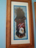 Eagle Over Confederate Flag